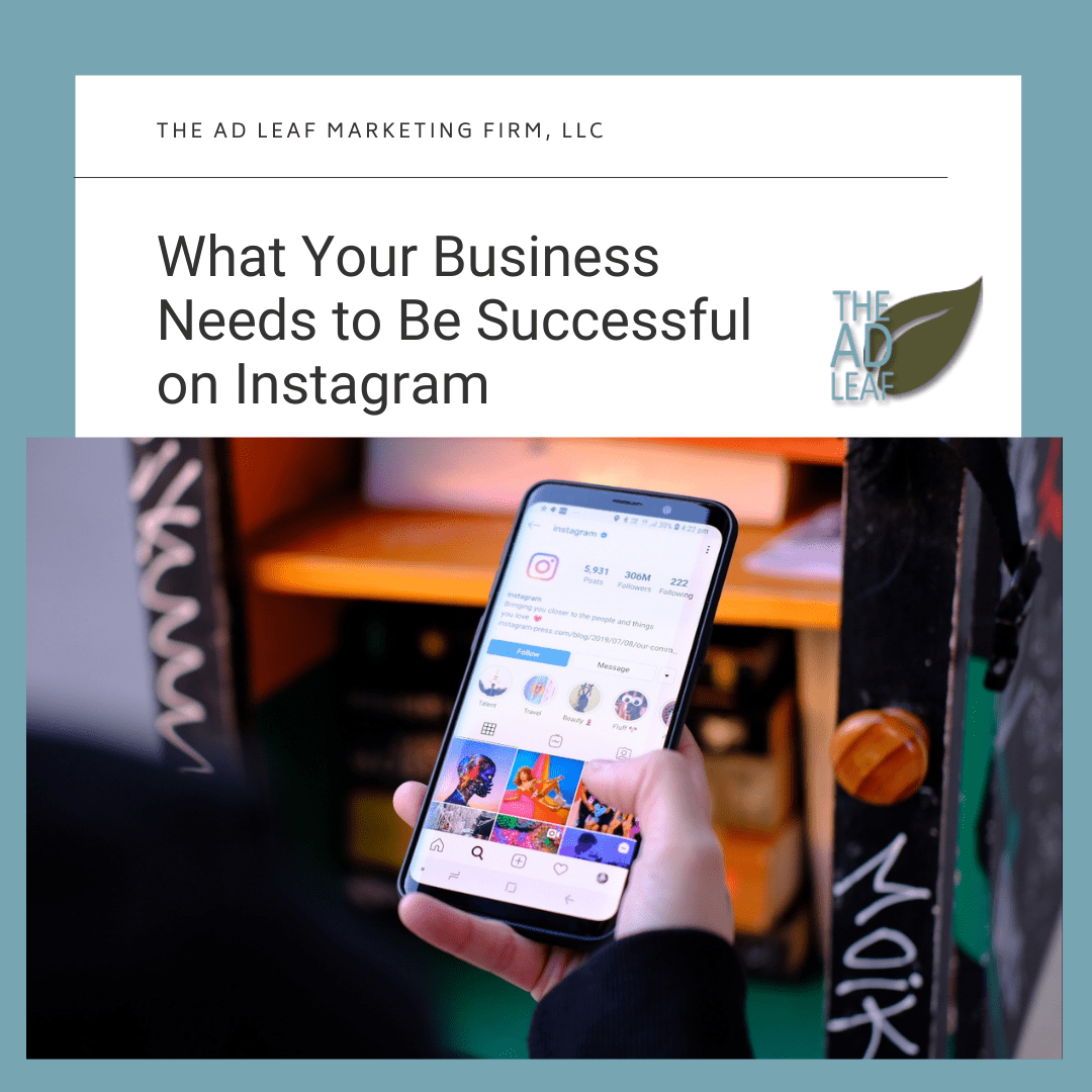 Image of a person using a business Instagram account